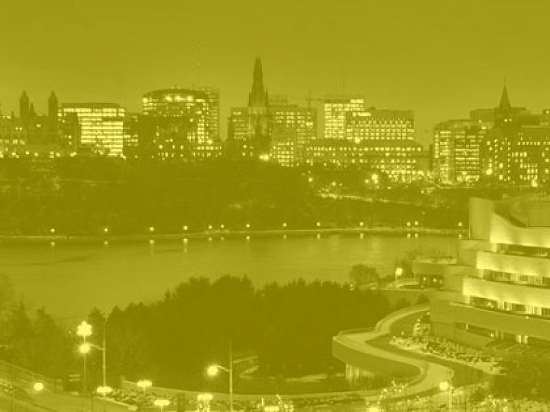 photo of the back of Parliament Hill from Gatineau